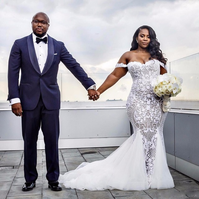 9de7c0422b6c0 Black Person Wedding: Sexy Lace Gonna Wedding Gowns 2018 Aso Ebi ...