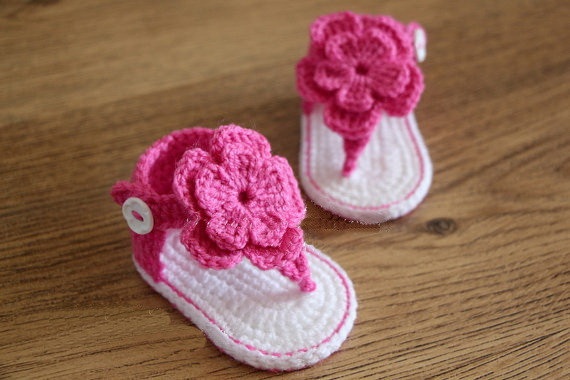 9d4f0c2c7c7ad Free shipping,Crochet Baby flip flop sandals,baby Summer sandals ...
