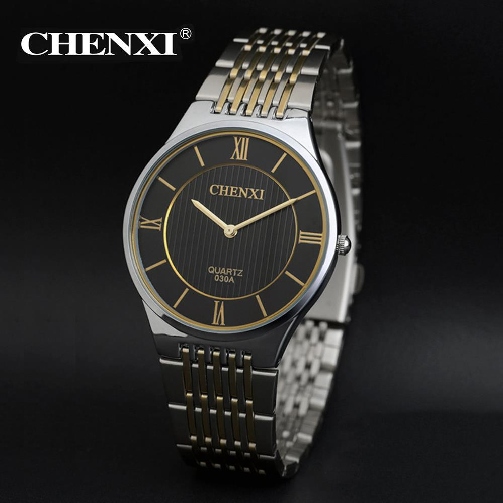 Fashion Simple Dial Watch Luxury Brand Ultra Thin Case Analog Watch Elegant Men Business Quartz Silver Steel Band Watch