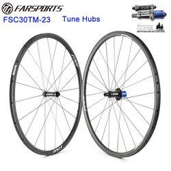 Top zestaw kołowy z dostroić piasty drogowe oryginalny z niemiec 30mm x 23mm felgi rurowe światła waga 1020g na parę  shima i Campy