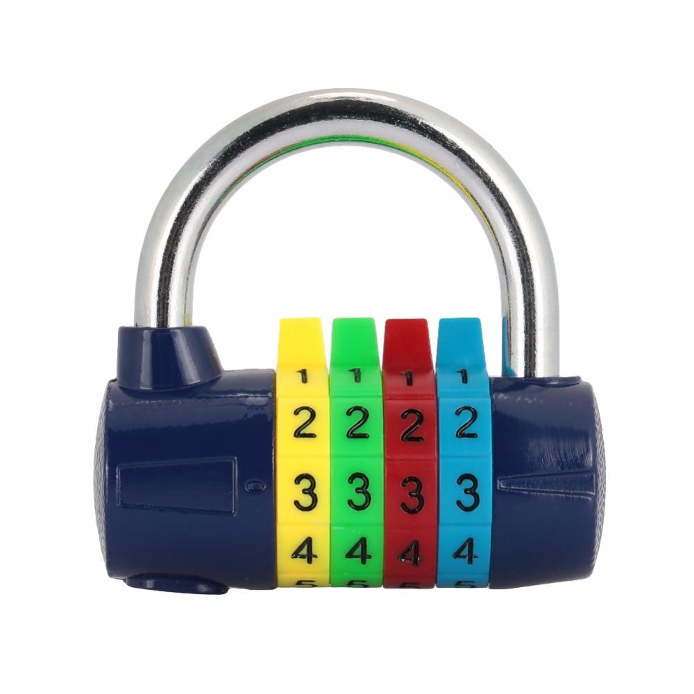 4 Digit Password Lock Resettable Combination Coded Padlock Portable Durable Hanging Lock Travel Luggage Suitcase Lock цена и фото