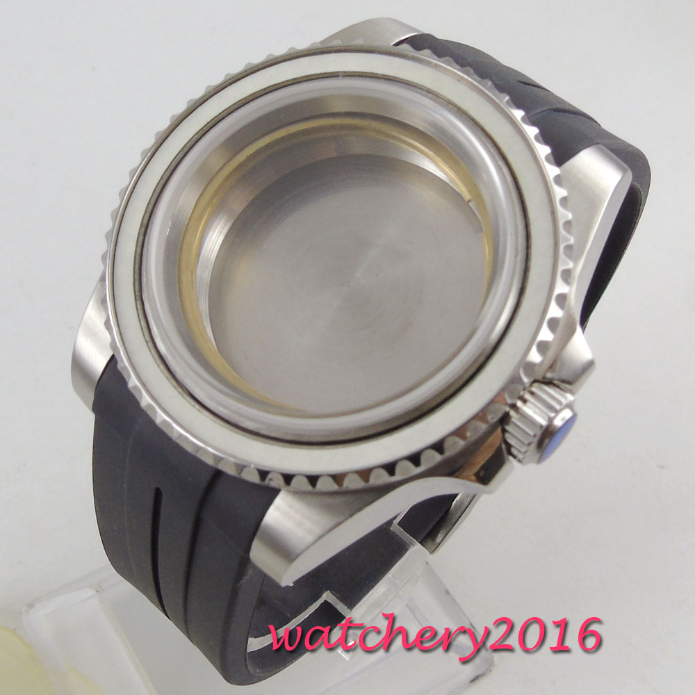 40mm Sapphire Glass Sub Watch Case Fit ETA 2824 2836 Miyota 8215 MOVEMENT
