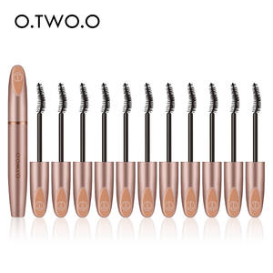 O.TWO.O 12pcsset 3D Silk Fiber Mascara Eyelash Black Waterproof Long Lasting Lash Thick Mascara Long Eyelashes Extension