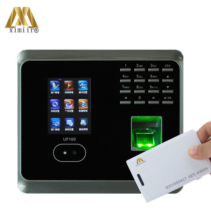 ZK UF100 Plus Biometric Face And Fingerprint Time Attendance With RFID Card Reader WIFI Face Time