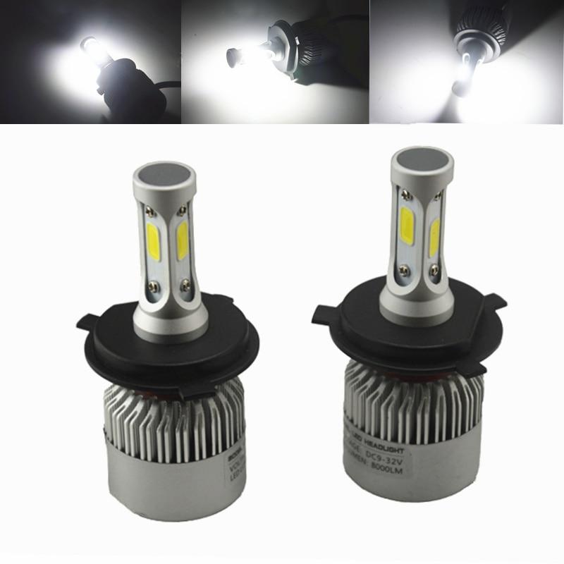 1 Set 72w 16000lm 6500k Cob Led Headlight H1 H3 H4 H7 H11 9005/hb3 9006/hb4 Car Led Headlight Bulb Car Light Source Head Light