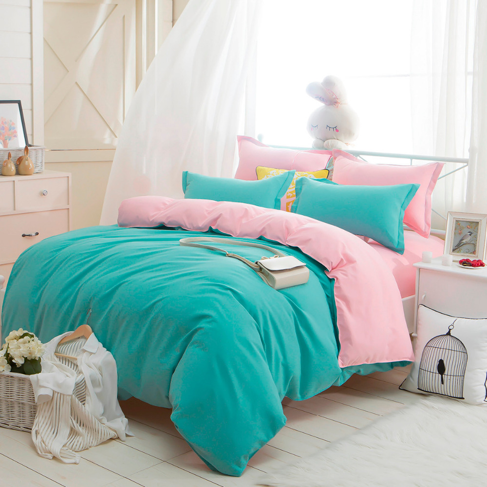 Home & Garden 1500 Series Home Bed Kits Sheet Bedding Solid Colors Single Twin Full Queen And Double King All Size New Bedding Sets