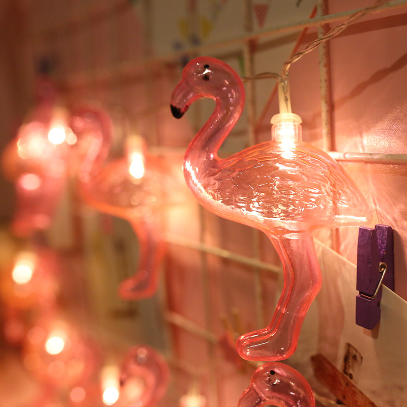 Mycyk New Flamingo String Lights 20 LEDs Indoor/outdoor Decoration Lamp Living Room Decorative Light Battery Powered Night Light