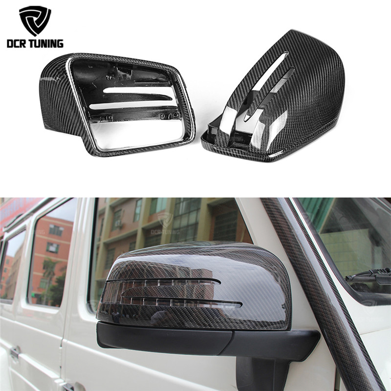 For Mercedes G Class Amg G55 G63 W463 GL GLE 43 63 M Class W166 X166 Carbon Fiber Mirror Cover Replacement mercedes w205 carbon fiber bumper canards for benz c class w205 with amg package c63 amg 2015 c180 c200 c250 splitter canards