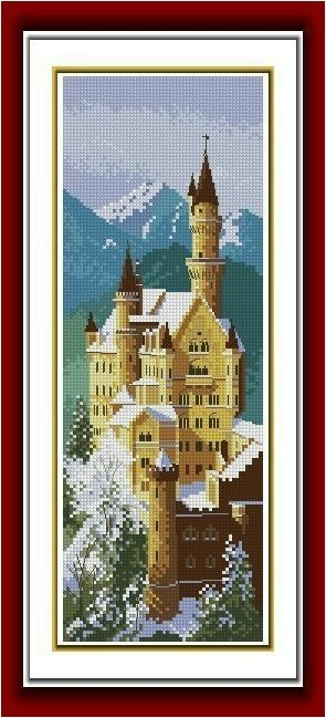 Needlework,diy Chinese Cross Stitch,set For Embroidery Kit,scenic,snow Famous Castle Counted Cross-stitch Set Home Decor Patterns