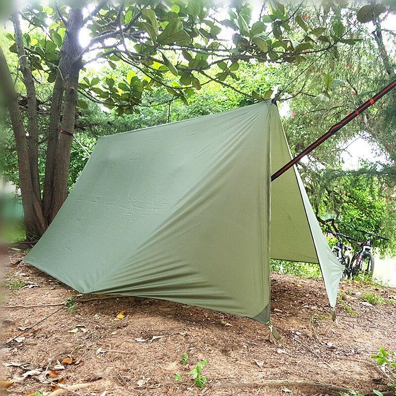 dossel acampamento ao ar livre poleless tenda 01