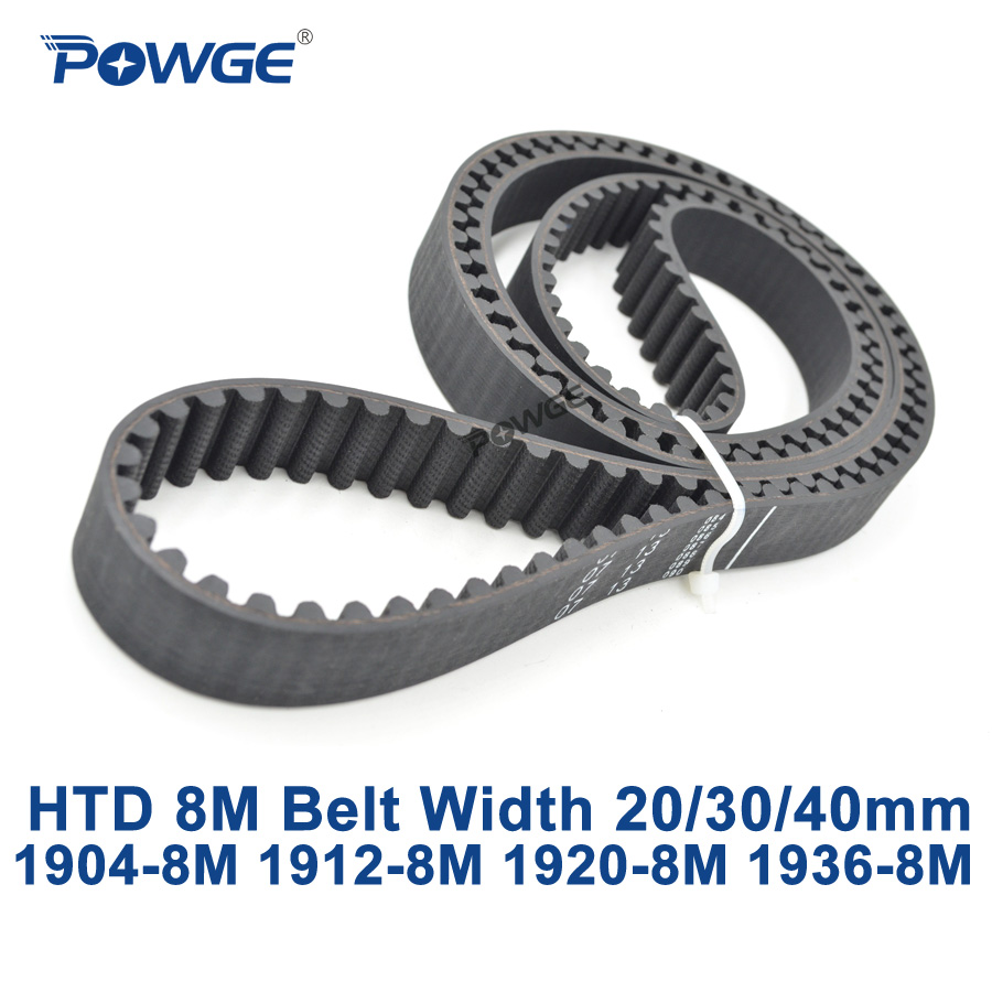 POWGE HTD 8M synchronous Timing belt C=1904/1912/1920/1936 width 20/30/40mm Teeth 238 239 240 242 HTD8M 1904-8M 1912-8M 1936-8M кабель usb telecom tc6911bk 1 8m 1 8м tc6911bk 1 8m