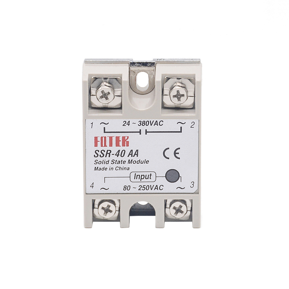 Solid State Relay SSR-40AA 40A Actually 80-250V AC TO 24-380V AC SSR 40AA Relay Solid State