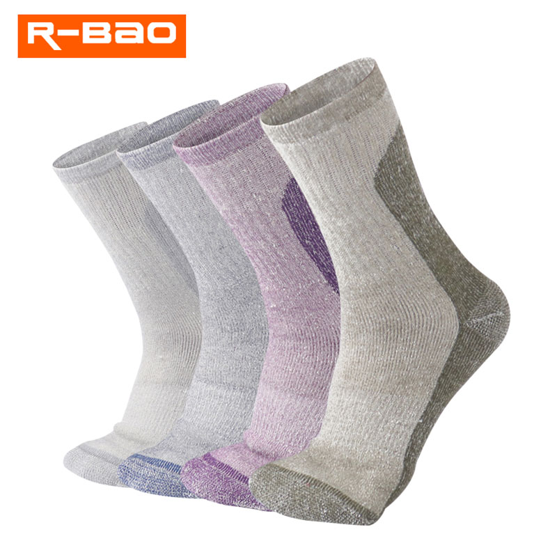 Winter Warm Wool Outdoor Mountaineering Thicker Cotton Men Women Knee High Models Thick Winter Ski Durable Hiking Socks