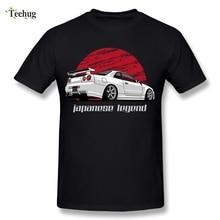 Fashion Streetwear Mens Skyline GTR R34 T Shirt Round Neck Classi Car Design For Homme Tee Shirts