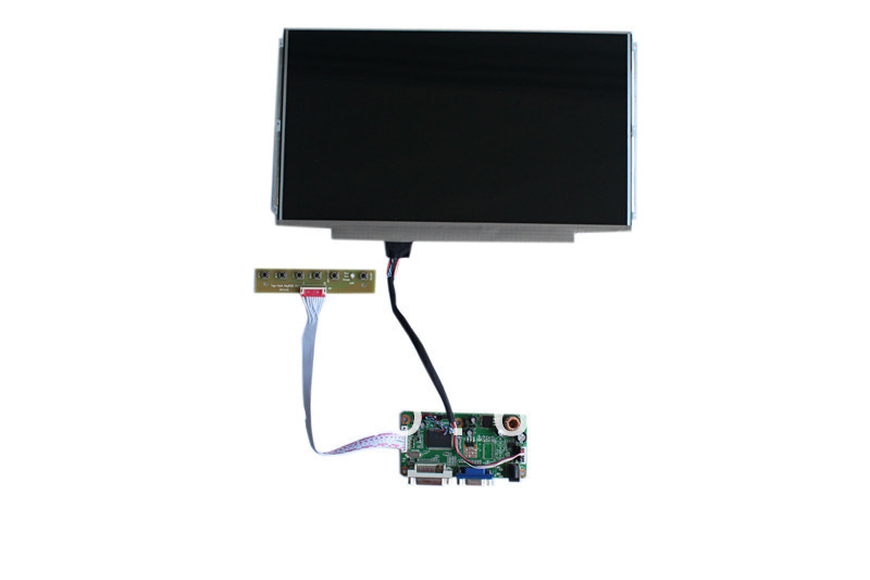 DVI+VGA +Audio  LCD   board   +LVDS cable +OSD keypad with cable+ 13.3 inch 1366*768 LP133WH2-TLGA dvi vga lcd control board 15 6inch 1366 768 lp156wh2 n156b6 lcd touch panel