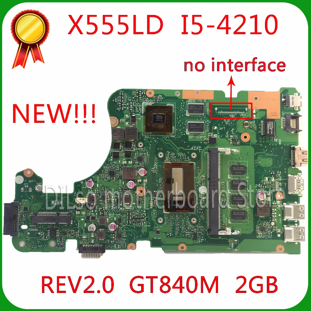 все цены на  SHUOHU X555LD For ASUS X555LD  laptop motherboard X555LD rev2.0 with graphics card i5 cpu onboard motherboard 100% tested  онлайн