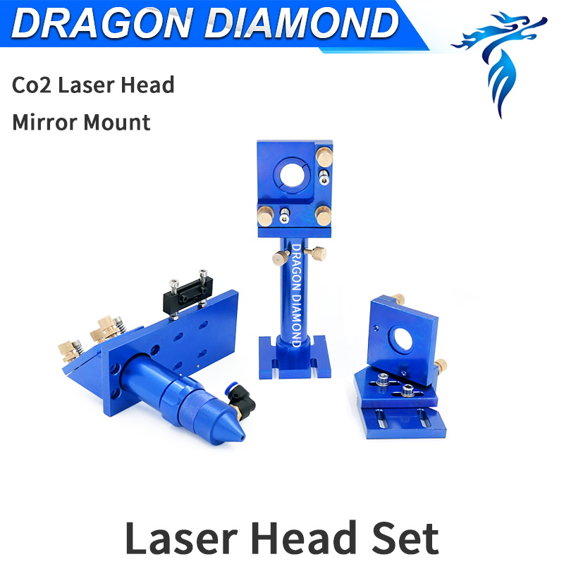 CO2 Laser Head Sets Blue Reflective Mirror 25mm Focus Lens Dia.20mm For CO2 Laser Engraving Cutting Machine co2 laser head for focus lens for laser engraving cutting machine