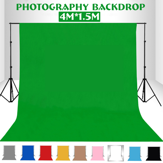 1.5X1/2/3/4M Meter Photography studio Green Screen Chroma key Background Backdrop for Studio Photo lighting Non Woven 10 colors