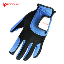 1 PCS Men's Golf Gloves Left Handed or Right Handed Professional Breathable Microfiber Blue Golf Glove Sport Golf Accessories все цены