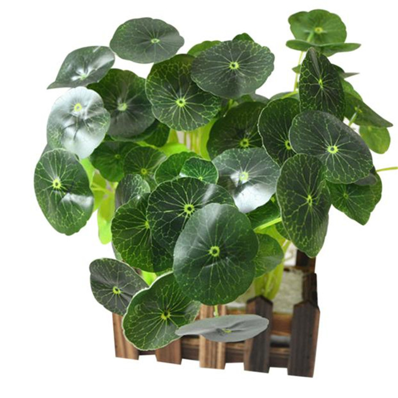 5pcs Artificial Fake Small lotus leaf Flower Bush Bouquet Home Wedding Decor gift wholesale hot sale on J15