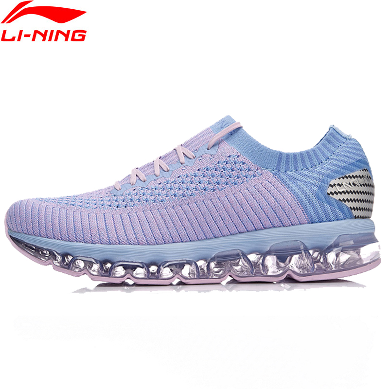 Li-Ning Women New LN ARC Air Cushion Running Shoes Breathable One Woven Stability Sneakers LINING Fitness Sports Shoes ARHN044 summer breathable air cushion fly line sports women running shoes shock absorption increase tourism shoes spring female sneakers