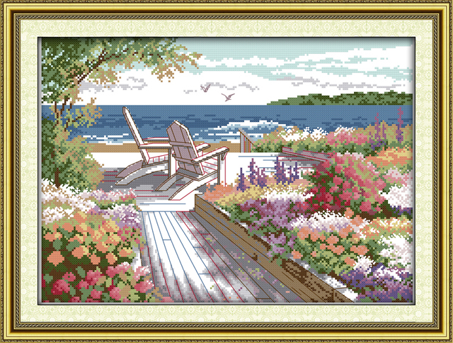 Seaside Landscapes Cross Stitch