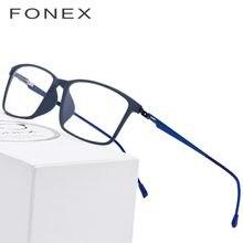 06a1be4435 TR90 Titanium Alloy Glasses Frame Men Myopia Eye Glass Prescription Eyeglasses  2018 Korean Screwless Optical Frames Eyewear 9855