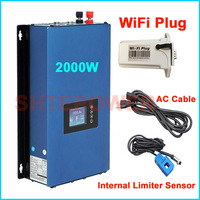 2KW Inverter with internal Limiter sensor MPPT Grid Tie Solar power inverter Battery Discharge Mode DC45 90V input 2000W