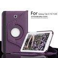 Для Samsung Galaxy Tab 4 7.0 T230 T231 360 Градусов вращающийся Кожаный Чехол Galaxy Tab4 T235 Личи PU Защитный случае