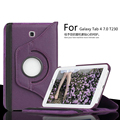 For Samsung Galaxy Tab 4 7.0 T230 T231 360 Degree Rotating  Case Leather Cover Galaxy Tab4 T235 Litchi PU Protective Case