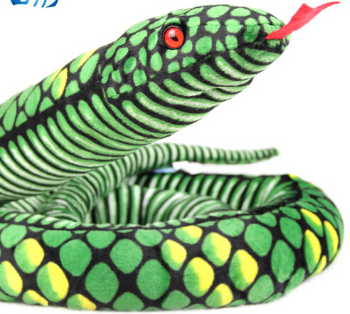 Simulation snake 1.7 meters snake plush toy doll doll pillow Creative birthday gift Wacky Halloween toys free shipping