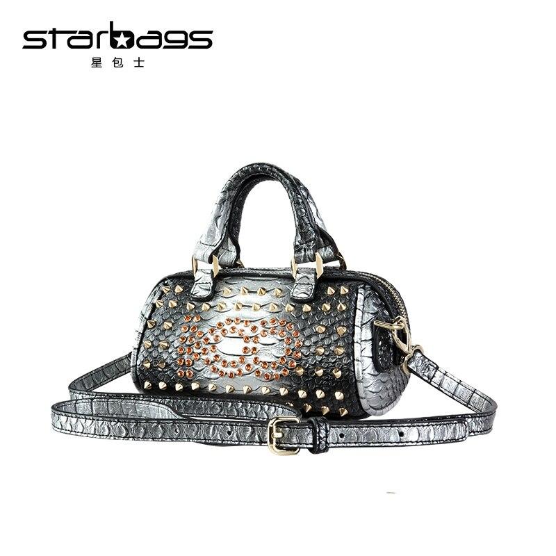 b832e21567f1 starbags brand new design mini diamond handbag ladies rivet and crystal shoulder  bag crossbody bags punk