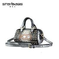 Starbags новый дизайн мини Алмазная Сумка Женская заклепки и кристалл сумка через плечо сумки через плечо панк изящные женские сумки