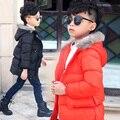 2016 Cildren Winter Jacket Down Coats Fur Hooded Warm Boys Girls Thick Duck Down Kids Jacket Children Outerwears for Cold Winter