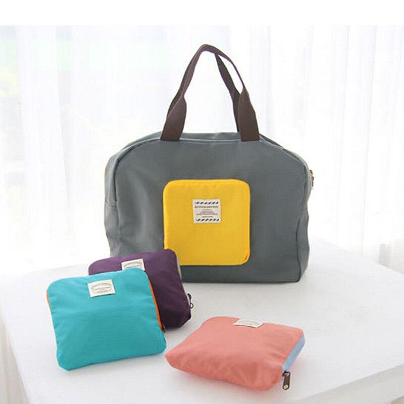 eco-friendly Womens Foldable nylon Shoulder Bag Weekend Travel Work Gym Shopping large Bag Tote Handbag organizer storage Bag