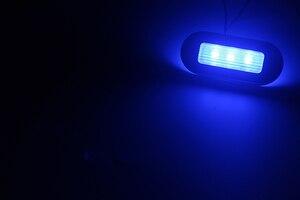 Image 5 - 12V Marina Yacht RV LED luz superior azul/blanco ancla de acero inoxidable Stern Light Boat Accesorios