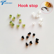 Toppory 100 PCS /Lot Carp Fishing Rubber Hook Stops Shank Hook Stopper Buffer Carp fishing Hair Rigs Tackle Tool Accessories