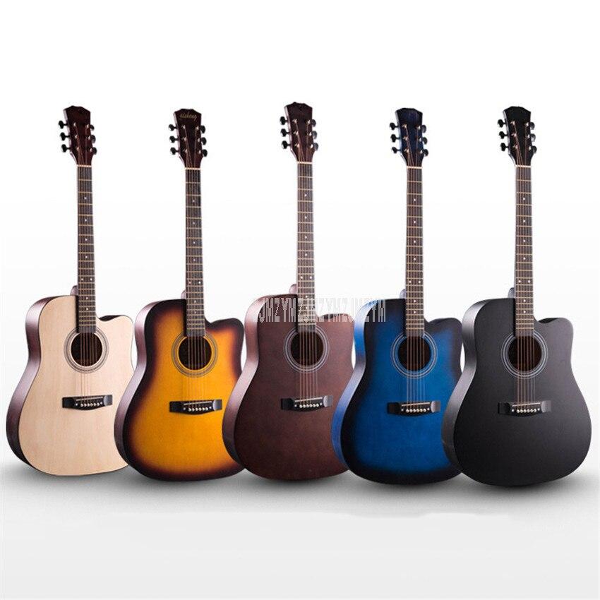 Nouveau 1 PC 41 pouces Guitarra guitare Folk acoustique pratique bois massif 6 cordes guitare avec sac pour amateur d'instruments de musique débutant