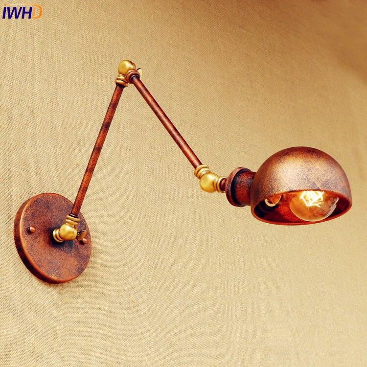 Rust Loft-Stil Industrielle Wandleuchten Wandlampen Swing Long Arm - Innenbeleuchtung - Foto 1