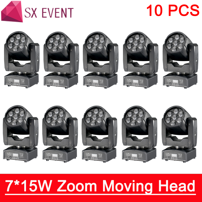 Led Mini DMX 512 control 7x15w RGBW led zoom wash moving head professional KTV/DJ /Bar /Party /Show /Stage