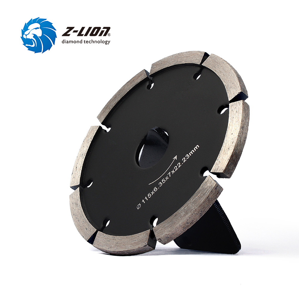Z-LION 115mm Tuck Point Diamond Blade 6mm Thickness Segment Diamond Cutting Saw Blade Grinding Disc for Concrete Stone 2 pcs super thin sintered diamond blade cutting disc for jade agate stone wet grinding with cooling water jgs031
