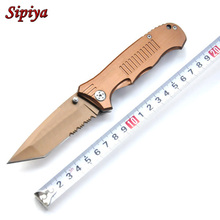 High quality! Stainless steel Handle folding hunting knife camping pocket knife tactical knifes outdoor survival tool
