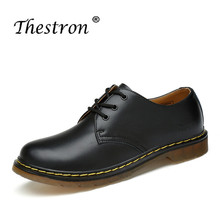 Thestron Good Quality Men Business Dress Shoes Low Top Working Shoes Fashion Black Casual Leather Working Footwear Derby Shoes цена и фото