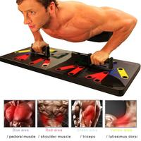 Hot 9 in 1 Body Building Push Up Rack Board System Fitness Comprehensive Exercise Workout Training Gym Exercise Pushup Stands