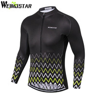WEIMOSTAR Team Cycling Jersey Long Sleeve Maillot Ropa Ciclismo Breathable Bicycle Clothing MTB Bike Jersey Cycle Shirts Tops