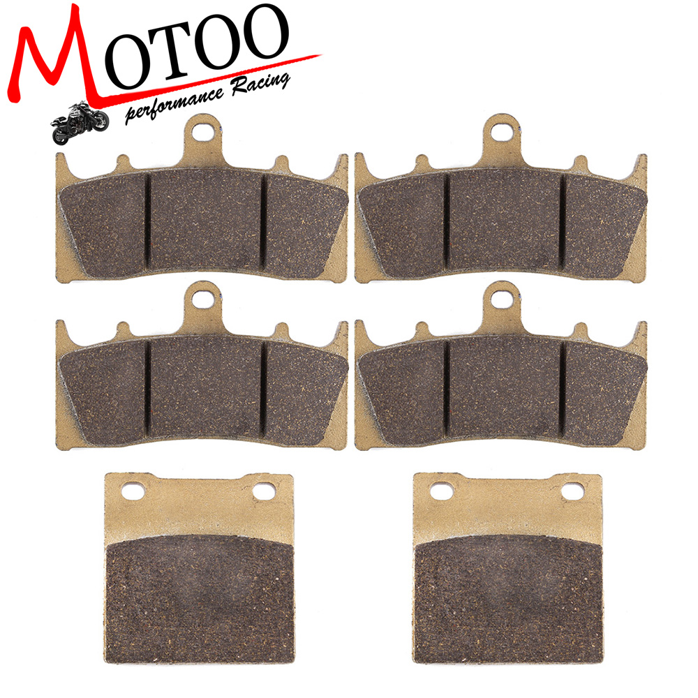 Motoo - Motorcycle Front and Rear Brake Pads For SUZUKI GSXR-1300 GSX-R 1300 Hayabusa 1999-2007 for suzuki hayabusa gsx1300r 1999 2007 motorcycle front
