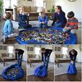 Conveniência portátil Crianças Criança Brinquedos Carro Arrumado Organizador De Armazenamento Caso Dobrável Para Piquenique Da Família Mats Jogue 150 cm