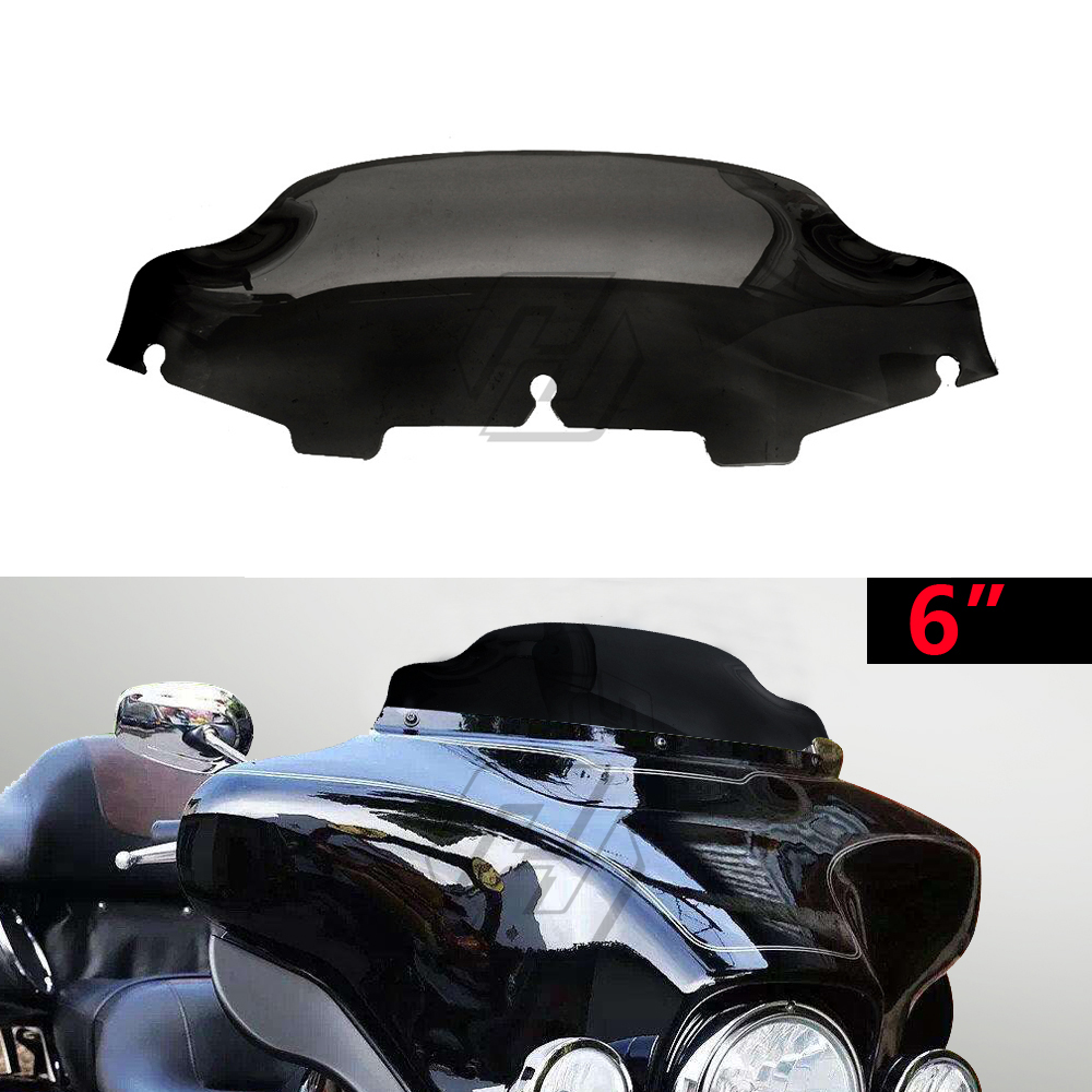 6 quot Motorcycle Wave Windshield Fairing Case for Harley Touring FLHT FLHTC FLHX 1996 2013 in Windscreens amp Wind Deflectors from Automobiles amp Motorcycles