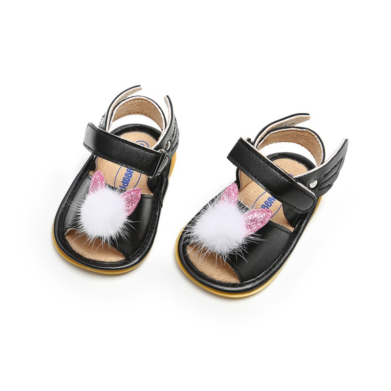 Infant For Newborn Baby Girl Summer Shoes Soft Sole Hair Ball Princess Shoes New