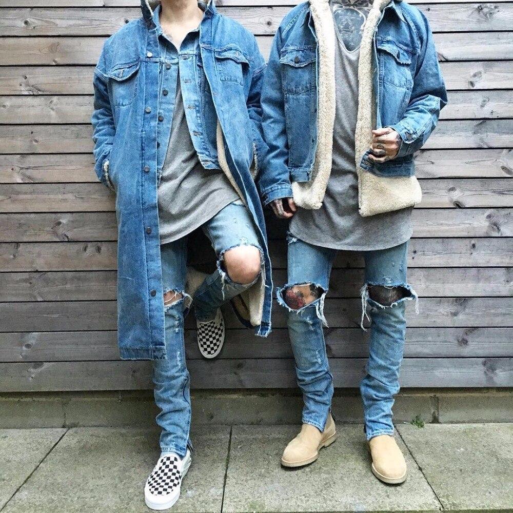 2017 New Fashion Men Outfits Stylish Long Coat Clothing Fleece